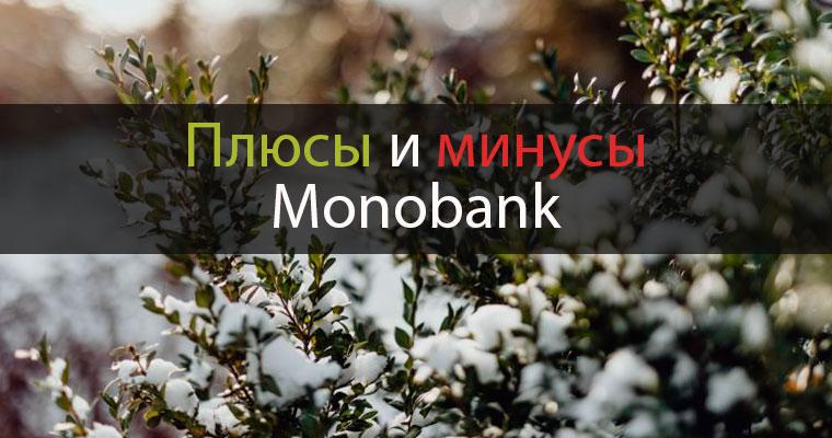 плюсы и минусы monobank
